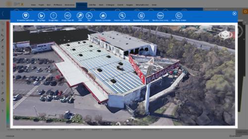 3D Ansicht eines Flachdachs
